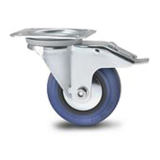 Blue Wheel 100mm Lenkrolle, gebremst, Tragkraft 160 kg